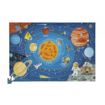Kosmos puzzle 200 elementów z plakatem, Crocodile Creek