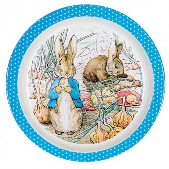 Talerz niebieski Królik Piotruś, Petit Jour