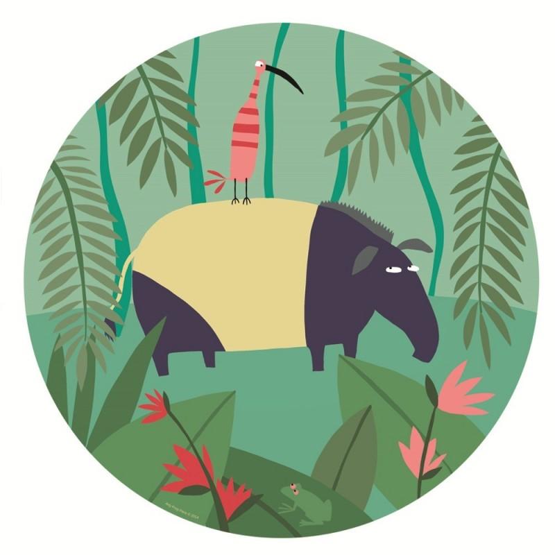 """Talerzyk """"Tapir"""" Dżungla Arty Frog z melaminy, Petit Jour"""