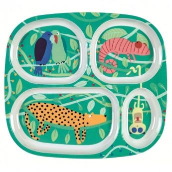 Talerz z przegródkami Dżungla Arty Frog, Petit Jour