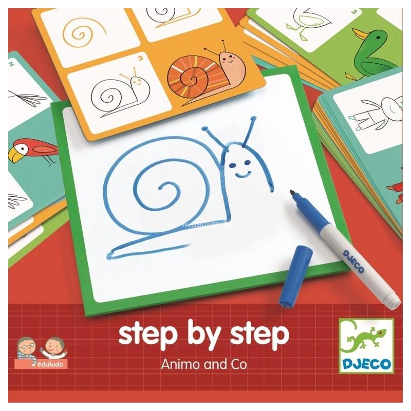 Zwierzęta Krok po Kroku nauka rysowania, Djeco