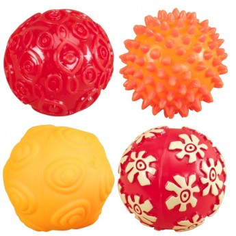 Oddballs 4 piłki sensoryczne dla niemowląt, B.Toys