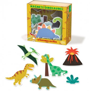 Magnesy drewniane Dinozaury, Vilac