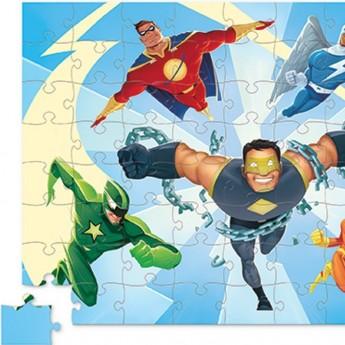 Super Bohater puzzle 72 elementów w pudełku, Crocodile Creek