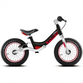 Rower biegowy LR Ride Br czarny 3+ z hamulcami + stopka GRATIS, Puky