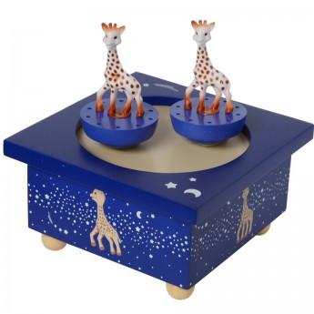 Żyrafa Sophie pozytywka magnetyczna granatowa