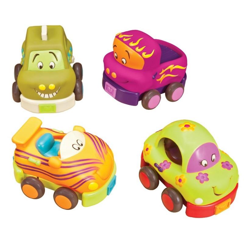 4 samochodziki z napędem Wheeee-ls!, B.Toys