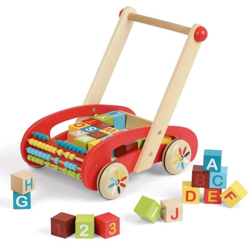 ABC Buggy Tatoo wózek do nauki chodzenia, Janod