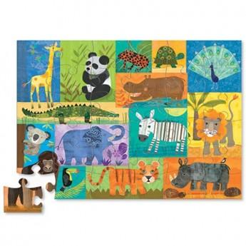Dżungla 36 elementów puzzle dla dzieci, Crocodile Creek