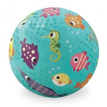 Piłka gumowa dla dzieci 18cm Ryby, Crocodile Creek