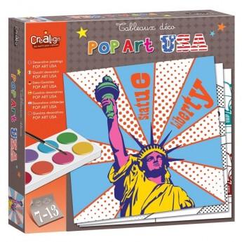 Zestaw Pop-Art USA do malowania, Crea Lign'