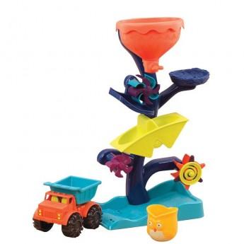 Młyn do zabawy w piasku i wodzie Owl About Waterfalls, B.Toys
