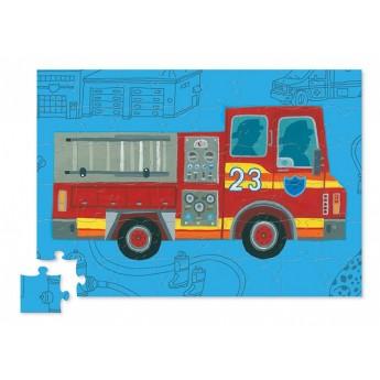 Wóz Strażacki 48 elementów puzzle dla dzieci, Crocodile Creek
