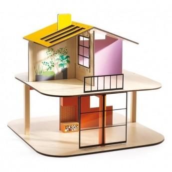 Domek dla lalek Kolorowy Dom, Djeco