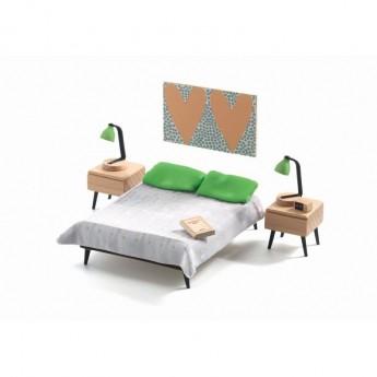 Sypialnia rodziców meble do domku dla lalek, Djeco