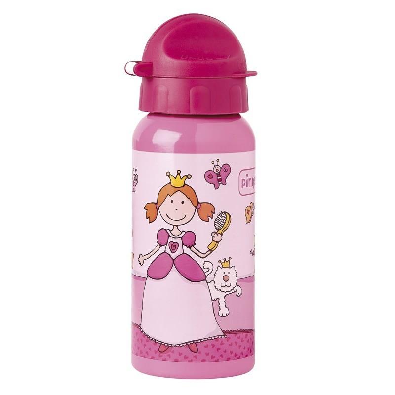 Sigikid bidon dla dzieci do szkoły Księżniczka Pinky Queeny aluminiowy