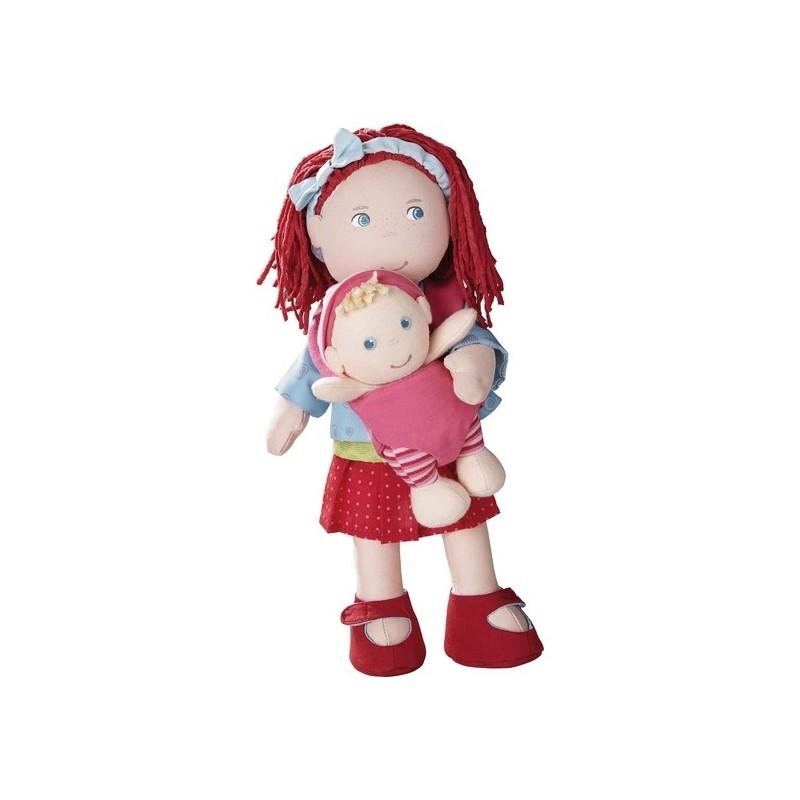 Haba lalka szmaciana z bobasem Rubina