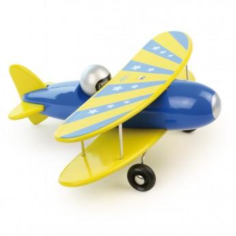 Samolot niebieski dwupłat, Vilac