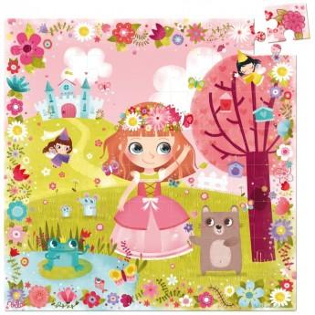 Księżniczka Kwiatów puzzle 54 elementy drewniane, Vilac