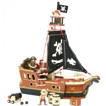 Drewniany statek piracki dla dzieci, Vilac