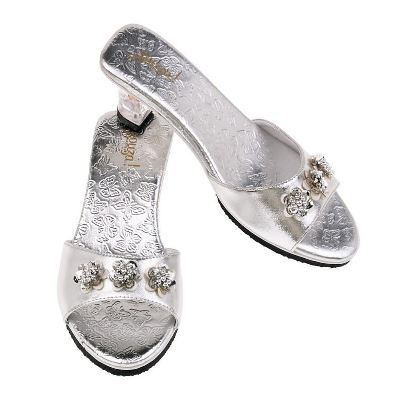 Buty na obcasie dla dzieci 27-28 srebrne Mariposa, Souza!