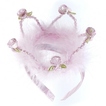 Opaska korona królowej Maxima różowa dla dziewczynki, Souza!