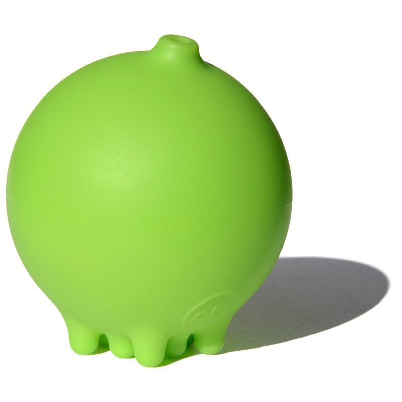 Deszczowa piłka Plui zielona zabawka do kąpieli +2