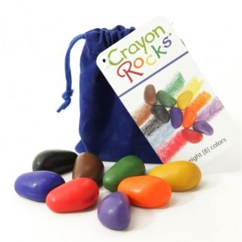 Kredki 8 kolorów w aksamitnym woreczku, Crayon Rocks