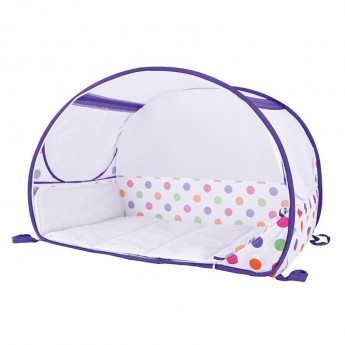 Bubble Cot Polka Purple łóżeczko turystyczne pop-up, Koo-di