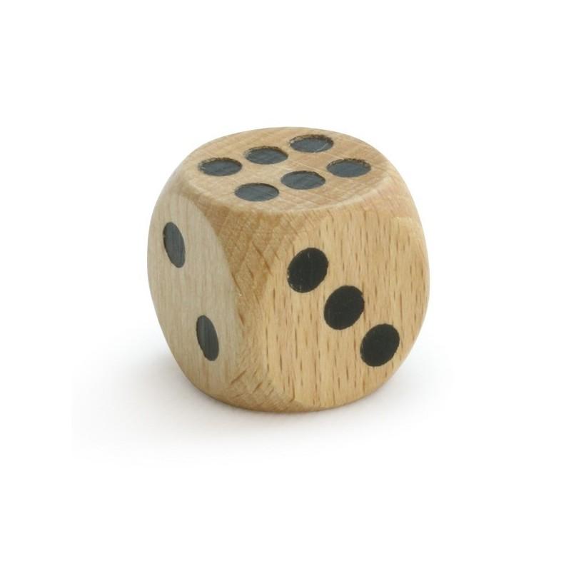 Kostka do gry duża 3cm drewniana, Vilac