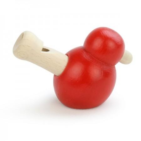 Vilac Gwizdek-ptaszek drewniany czerwony zabawka od 3 lat   Dadum