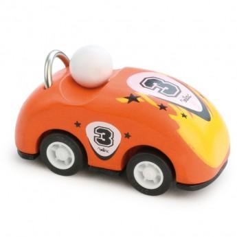 Samochodzik z napędem 8cm pomarańczowy, Vilac