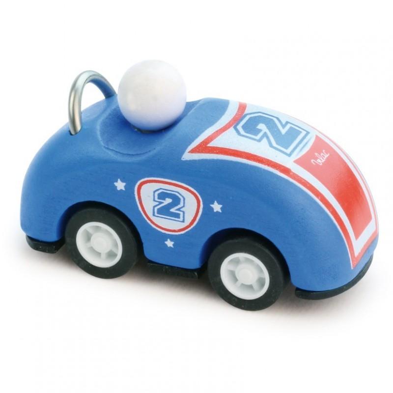 Samochodzik z napędem 8cm niebieski, Vilac