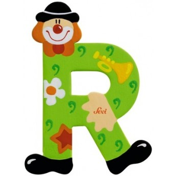 "Litera ""R"" z klaunem"