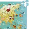 Mapa Świata duże kartonowe puzzle 500 elementów, Vilac