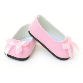 Buty dla lalek 39-48cm różowe ze wstążką, Petitcollin