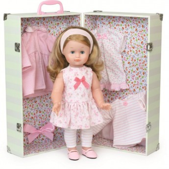 Emilia 39cm lalka blondynka z garderobą, Petitcollin