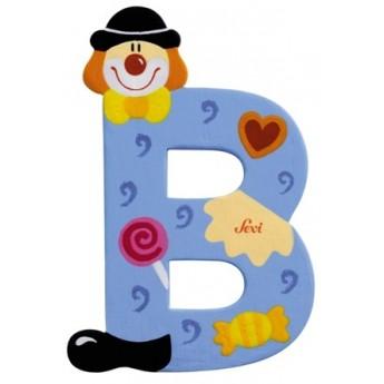 """Litera """"B"""" z klaunem"""
