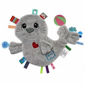 Label Label Przytulanka dla niemowląt Foka z metkami