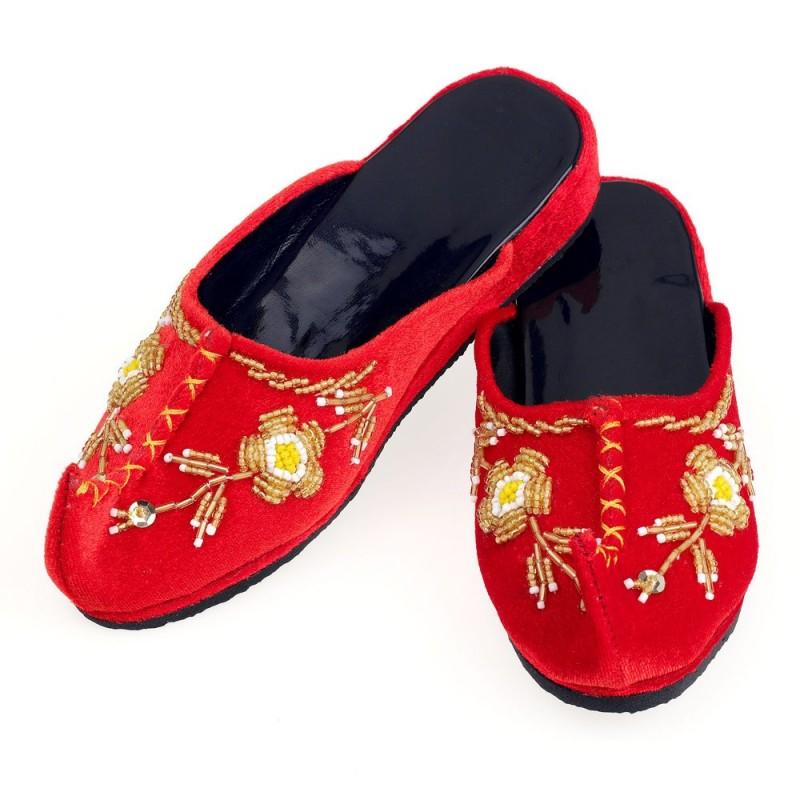 Czerwone satynowe chińskie buciki 30-31 Mei Li, Souza!