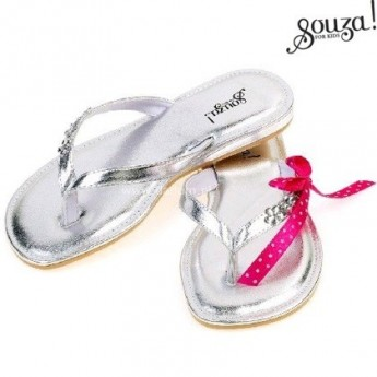 Flip-flop Raina 33-34 srebrne, Souza For Kids