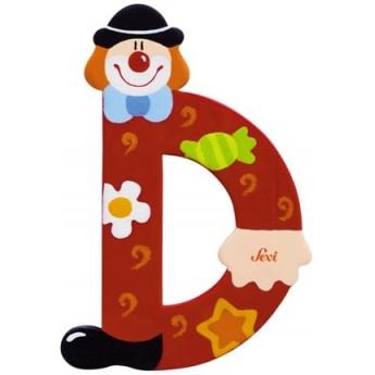 "Litera ""D"" z klaunem"