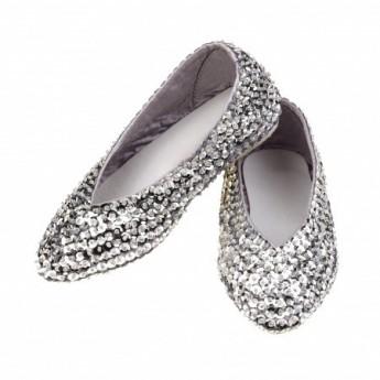 Baletki Lilly rozm. 29 srebrne cekiny, Rose & Romeo