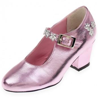 Buty na obcasie dla dzieci Madeleine różowe rozm. 33, Souza!