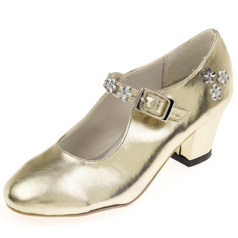 Buty na obcasie dla dzieci Sabine złote rozmiar 36, Souza!