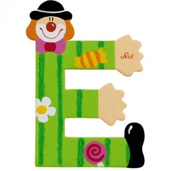 "Litera ""E"" z klaunem"