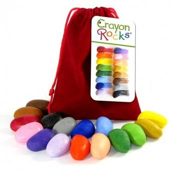 Kredki 16 kolorów w aksamitnym czerwonym woreczku, Crayon Rocks