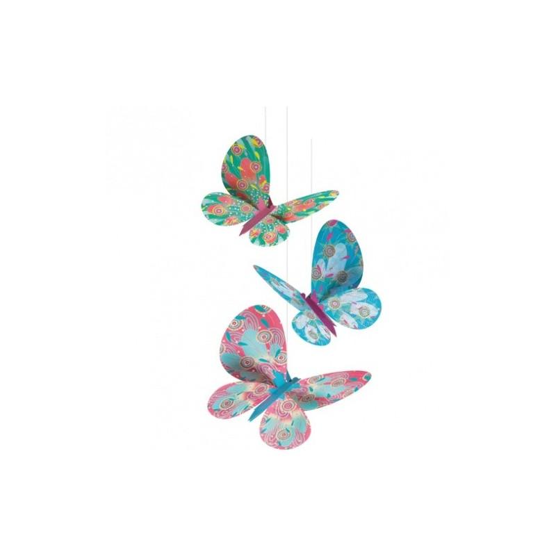 Brokatowe motyle do złożenia i zawieszenia, Djeco