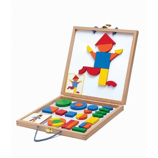 Djeco Geoform walizka magnetyczna edukacyjna drewniana DJ03130