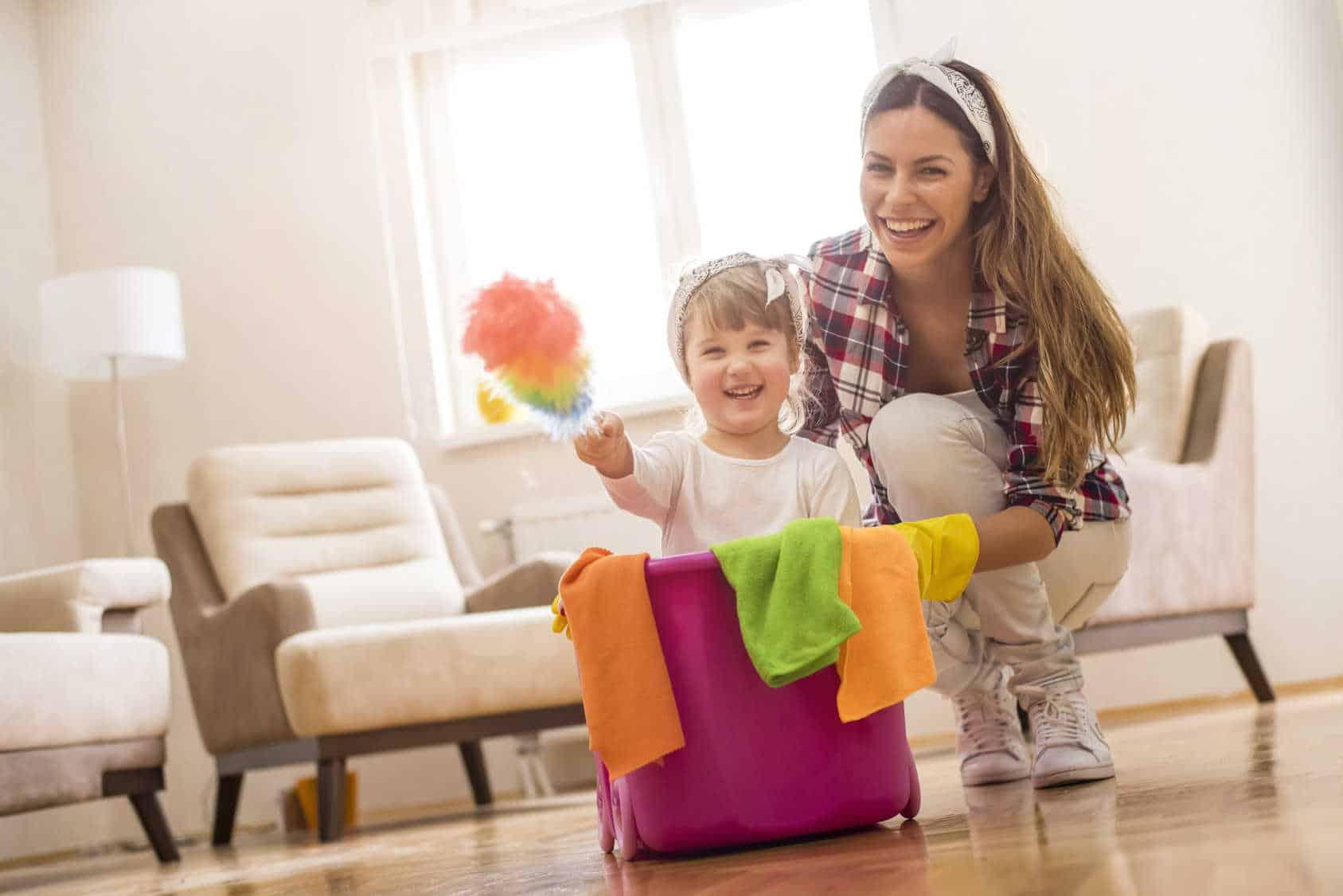 Wiosenne porządki bezpieczne dla dziecka